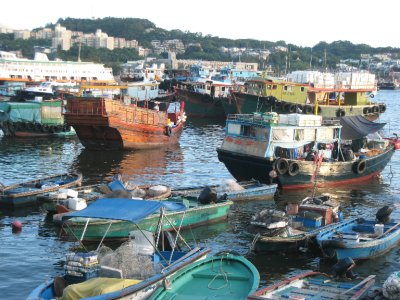 We went on a date on Cheung Chau Island, a quaint fishing village with no roads and no cars.