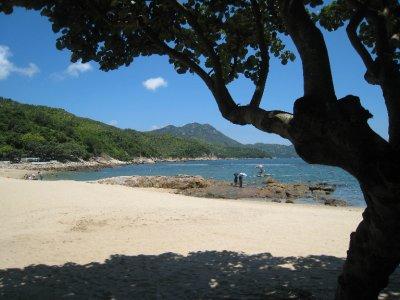 Llama Island's peaceful beach is a nice contrast to the busy city.