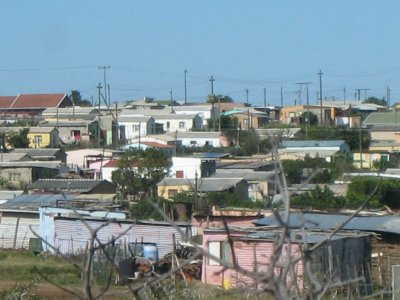 Like most towns we drove through, Port Alfred has a large township of ad hoc houses. It is still divided by race with blacks living on one side of the neighborhood and colored (South African term for mix race) people living in another area. You do not see any white residents.