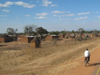 It's difficult for us to imagine living in one of these mud huts.