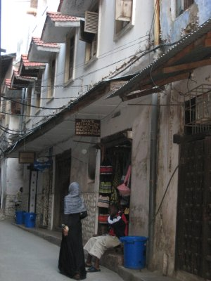 Stone Town is the main area of Zanzibar. It is a maze of narrow roads with shops and homes at every turn.