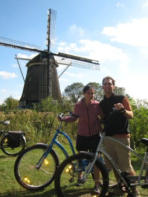 While in Amsterdam, Dave and I took a tour on bike, the main mode of transportation for locals.