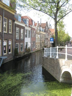Hester and Freek took us to Delft, the college town where the two of them met.