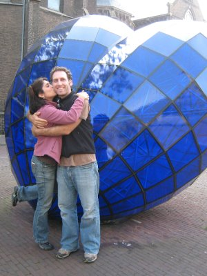 This blue gem in Delft, Netherlands, is supposed to be good luck for lovers - as noted by our local tour guides Freek and Hester! More on them below.