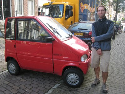In Europe, cars are small!