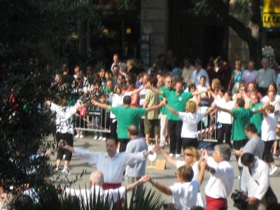 We saw traditional dancing in one of Barcelona's many plazas as part of the festival.