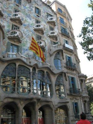 Gaudi's Casa Batllo.
