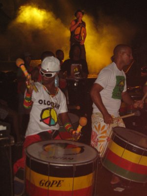 We went to see Olodum in concert. Olodum is the original percussion band that plays a style of samba/reggae music unique to Salvador. Olodum also has community programs and contributes profits from the band back into the community. Be sure to watch the Michael Jackson video that Olodum performs in