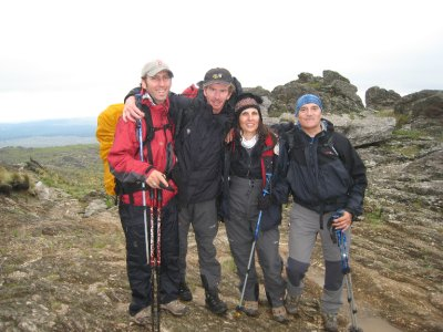 """""""Equipo Kilimanjaro."""" Me, Miguel, Viviana, and Raul."""