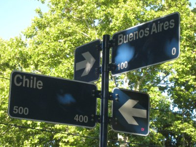 This street sign in San Rafael marks where it all began. We bought our around the world flight ticket in Buenos Aires, and stop number one was Chile.