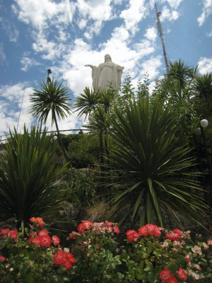 Our last tourist stop at the famous Virgin Mary on Cerro San Cristobal.