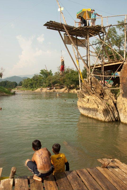Vang Vieng swinging into Mekong
