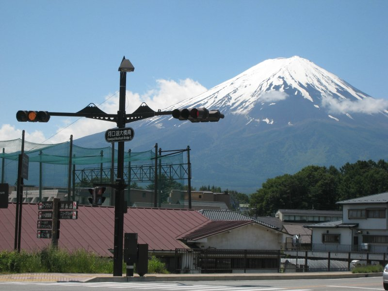 Mt. Fuji and Traffic Light