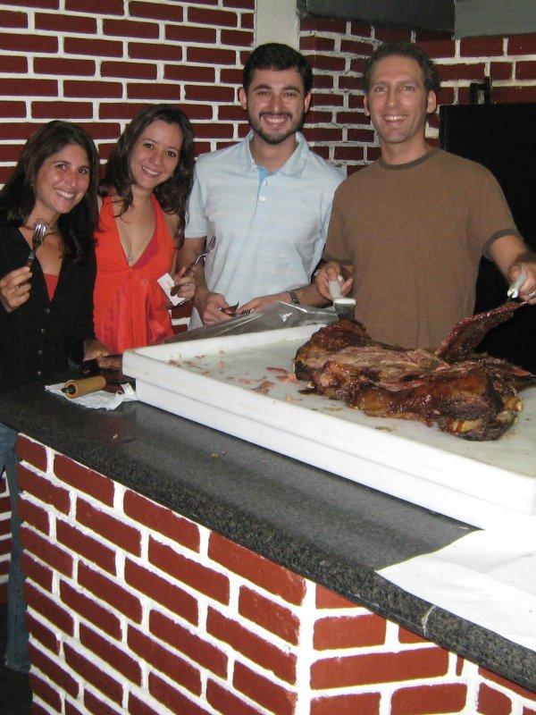 Sao Paulo, charrascoria with Roberta and Eric