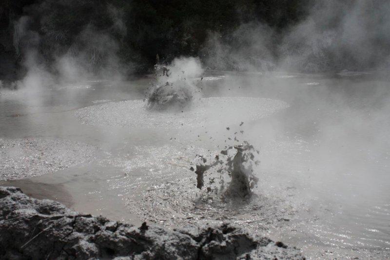 Rotorua mud pools, they were ace!!
