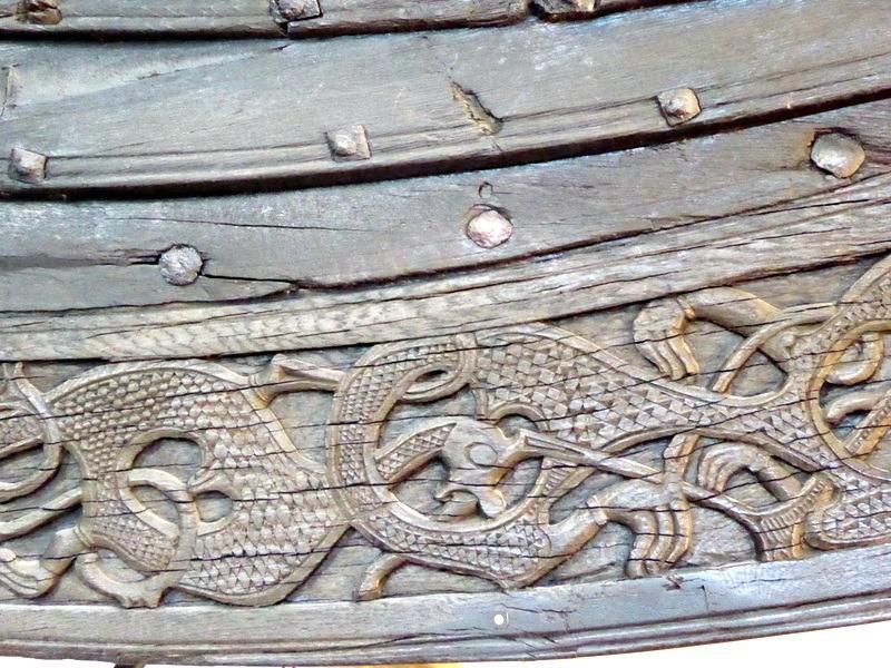 Decoration on Viking ship