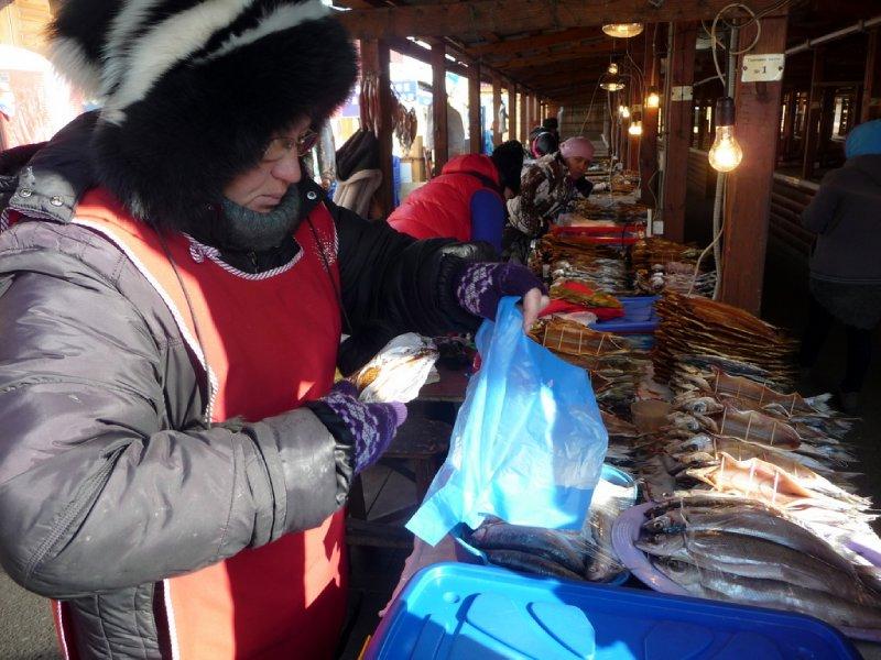 Olga the fishmonger