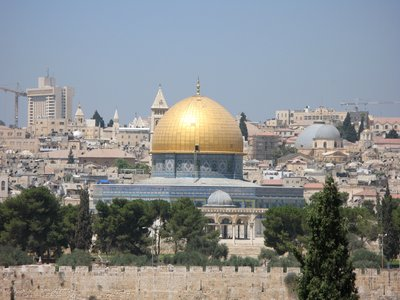 Dome of the Rock, view from Dominus Flevit Church