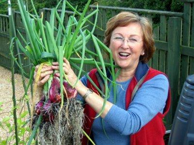 "Gardener Sandi says: ""What a lot I got."""
