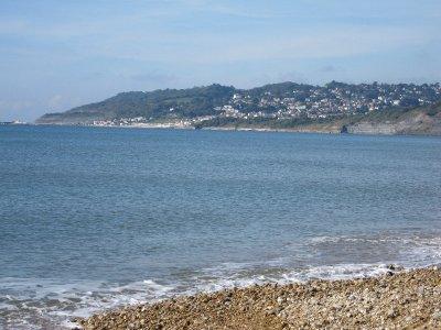 The view towards Lyme Regis