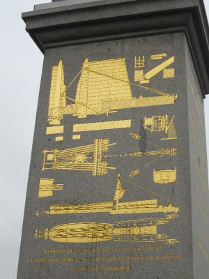 The description on the obelisk of how it was transported
