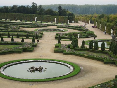 View of the gardens from the first floor