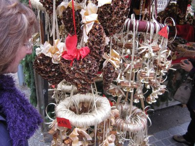 These decorations had wonderful aromas as they were made from star anise, cinnamon sticks and other spices