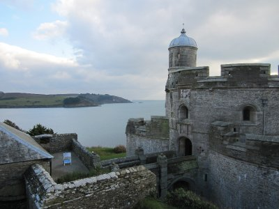 St Mawes castle looking across the Percuil river