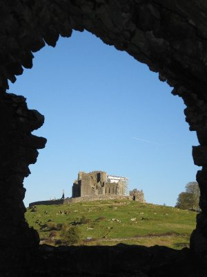 The Rock of Cashel seen from Hore Abbey