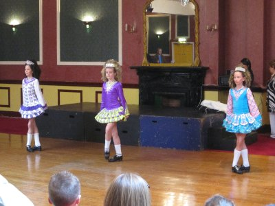 Groups of girls treated us to a display of Irish dance