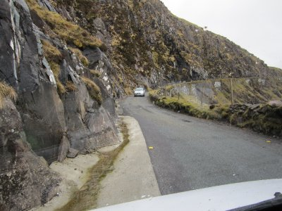 Only one vehicle at a time could traverse this section of the pass