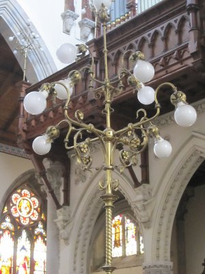 Ornate Victorian lighting