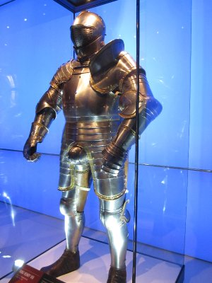 Henry VIII suit of armour - note how he protected his family jewels!
