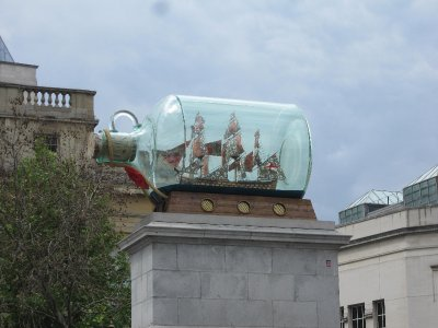 Ship-in-a-bottle at Trafalgar Square