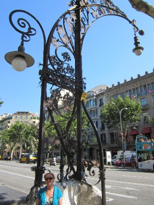 Gaudi even designed the street lamps in this part of town