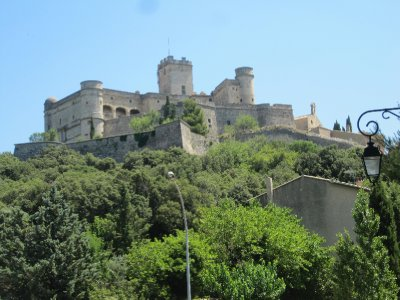 The castle of le Barroux commands a grand view over the valley