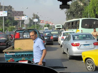 The traffic is hectic, especially as there are no lanes marked on the roads.