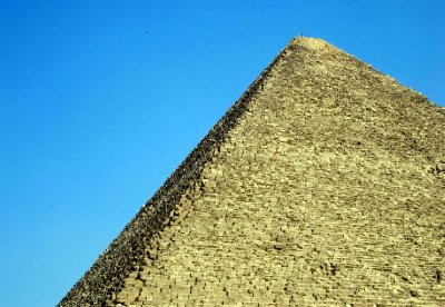 A perspective on the middle pyramid, which is the one we could enter.