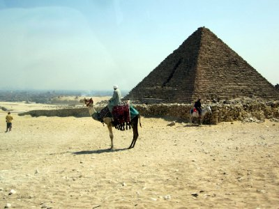 The pyramid of Menkaura is the smallest of the three.