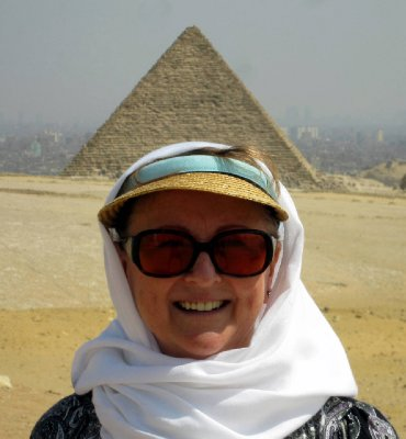 """Crowned with a pyramid.  We had to capture this for an amusing perspective on having a """"pointy-head""""!"""