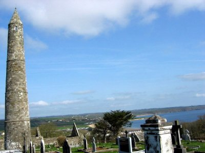 Round tower with Ardmore in the background