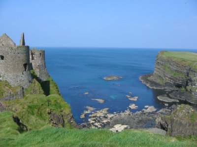 Looking down from Dunluce castle