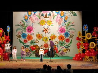 Talent show children on stage