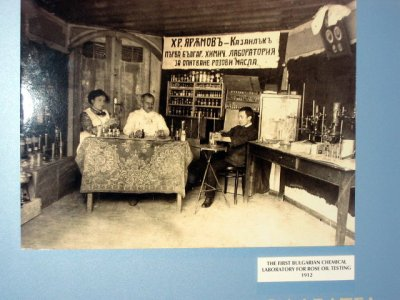 Photo of 1st Bulgarian chemistry lab for rose oil testing at Rose Museum