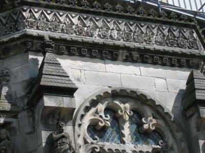 Rosslyn Chapel details of stonework