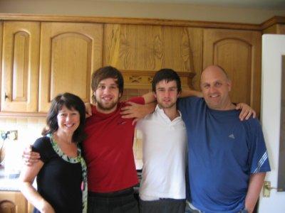 The Bracchi clan - Sue, Michael, Matthew and Kev