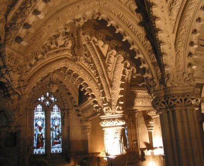 Rosslyn Chapel - part of the exquisitely carved interior