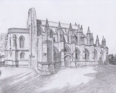 Rosslyn Chapel as it could be without the scaffolding!