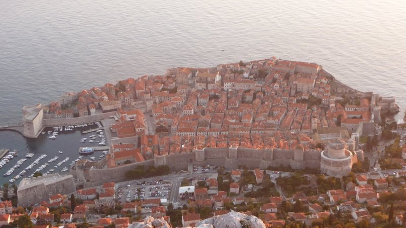 Dubrovnik - Old town, view from high up on Srđ