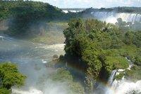Waterfalls and rainbow